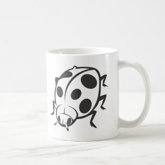 Cool Black Ladybug Tattoo Logo Mug