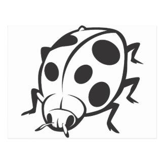Cool Black Ladybug Tattoo Logo Postcard