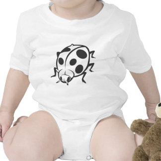Cool Black Ladybug Tattoo Logo Tshirt