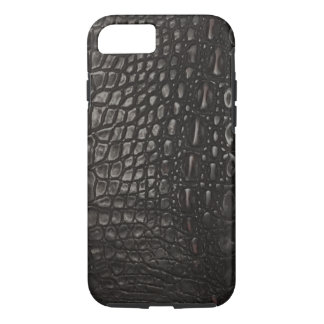 Cool Black Leather Alligator Skin iPhone 7 Case
