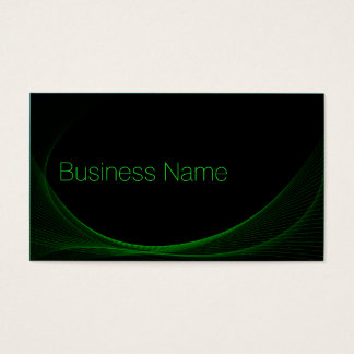 Cool Black & Lime Green Wireframe - Business Card