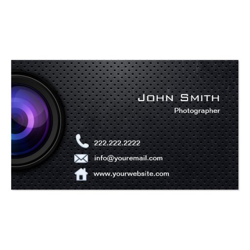 Photography business card templates bizcardstudiocom for Cool photography business card