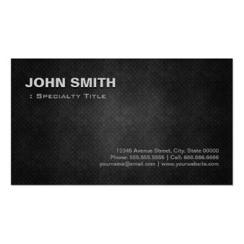 Cool Black Metal Steel Personal Individual Business Card Templates