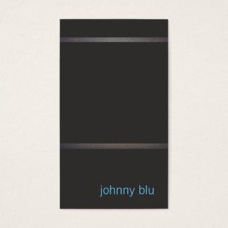 Cool Black Minimalistic Business Card