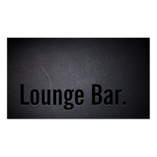Cool Black Out Lounge Bar Business Card