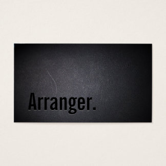 Cool Black Out Music Arranger Business Card