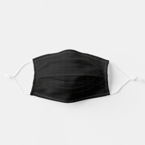 Cool Black Pattern Simple Grey Markings Adult Cloth Face Mask