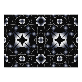 Cool Black Shining Star and Flower Kaleidoscope Announcement