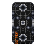 Cool Black Shining Star and Flower Kaleidoscope iPhone 4/4S Cases