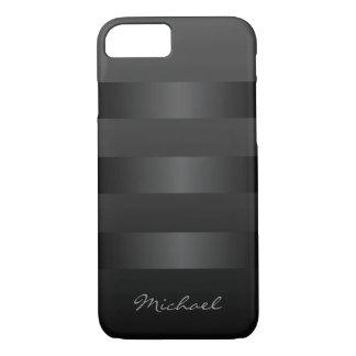 Cool Black Stripes Monogram iPhone 7 Case