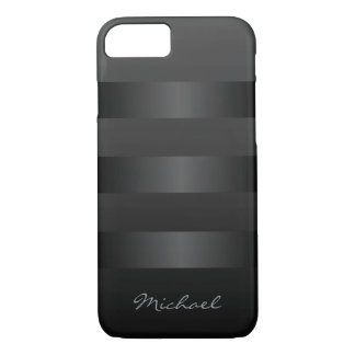 Cool Black Stripes Monogram iPhone 8/7 Case