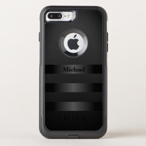 Cool Black Stripes Monogram Phone Case