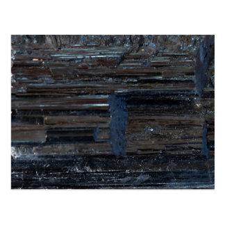 Cool Black Tourmaline Healing Grounding Stone Postcard