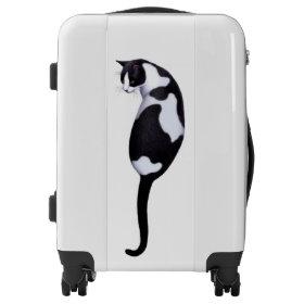 Cool Black White Cat Travel Luggage