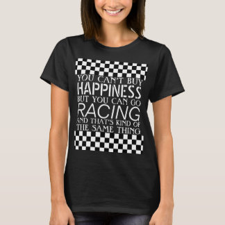Cool Black White Formula 1 Checkered Flags Pattern T-Shirt