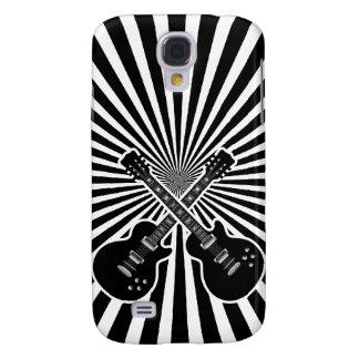 Cool Black & White Guitars Samsung Galaxy S4 Cover