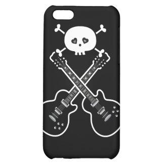 Cool Black White Guitars Skull iPhone 5C Case