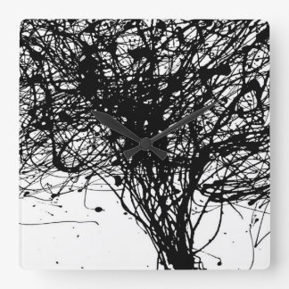 Cool Black white ink wall clock