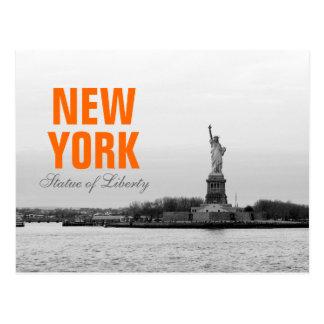 Cool Black White Statue of Liberty - NY New York Postcard