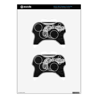 Cool black&white texture xbox 360 controller decal