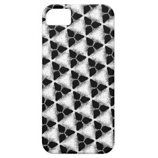 Cool Black White Triangle Art Pattern iPhone Case