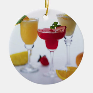 COOL BLENDED DRINKS ROUND ORNAMENT