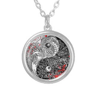 Cool blood splatter Yin Yang Dragons tattoo art Custom Jewelry