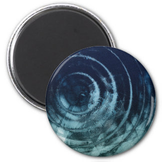 Cool Blue 2 Inch Round Magnet