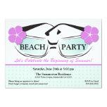 "Cool Blue and Purple Summer Sunglasses Invitation 5"" X 7"" Invitation Card"