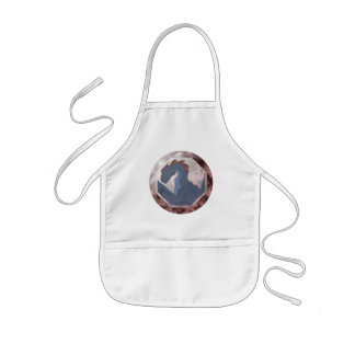 Cool Blue And Red Dragon Gem Apron