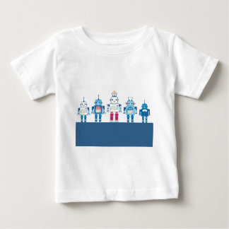 Cool Blue and Red Robots Novelty Gifts Baby T-Shirt