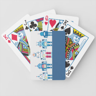 Cool Blue and Red Robots Novelty Gifts Bicycle Playing Cards