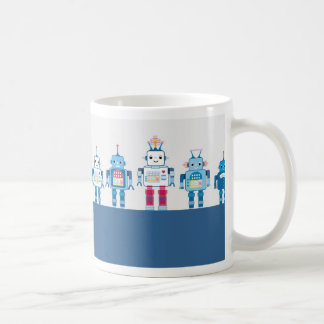 Cool Blue and Red Robots Novelty Gifts Coffee Mug