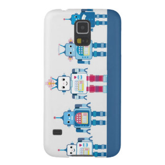 Cool Blue and Red Robots Novelty Gifts Galaxy S5 Case