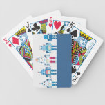 Cool Blue and Red Robots Novelty Gifts Poker Deck
