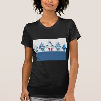 Cool Blue and Red Robots Novelty Gifts T-Shirt