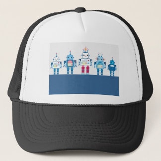 Cool Blue and Red Robots Novelty Gifts Trucker Hat