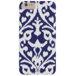 Cool blue and white ikat tribal pattern barely there iPhone 6 plus case