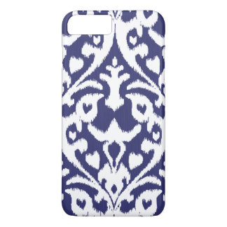 Cool blue and white ikat tribal pattern iPhone 8 plus/7 plus case