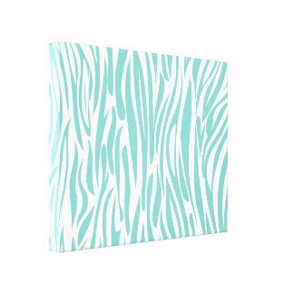 Cool blue Animal print. Canvas Print