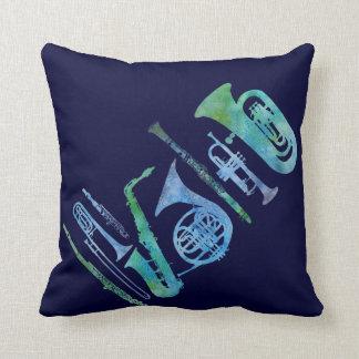 Cool Blue Band Throw Pillows