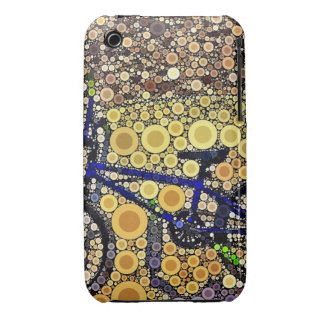 Cool Blue Bike Concentric Circle Mosaic Pattern Case-Mate iPhone 3 Cases