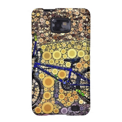 Cool Blue Bike Concentric Circle Mosaic Pattern Samsung Galaxy SII Cover