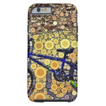 Cool Blue Bike Concentric Circle Mosaic Pattern iPhone 6 Case