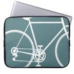Cool blue bike design Laptop Sleeve