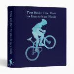 Cool Blue Biker 3 Ring Binders