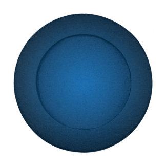 Cool Blue-Black Grainy Vignette Button Covers