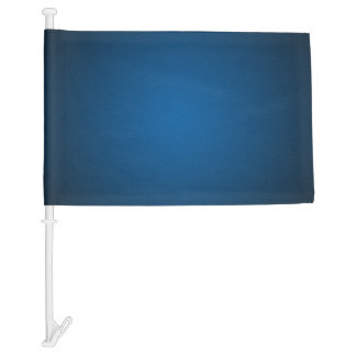 Cool Blue-Black Grainy Vignette Car Flag