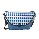 """Cool blue black """"polka dot"""" pattern commuter bag"""