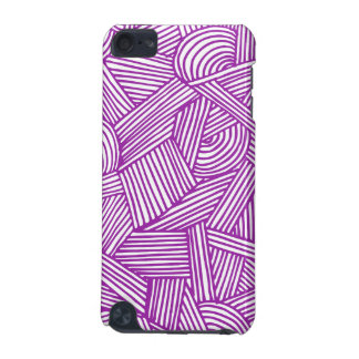 Cool Blue / Brown Fun Doodle Lines iPod Touch 5G Covers